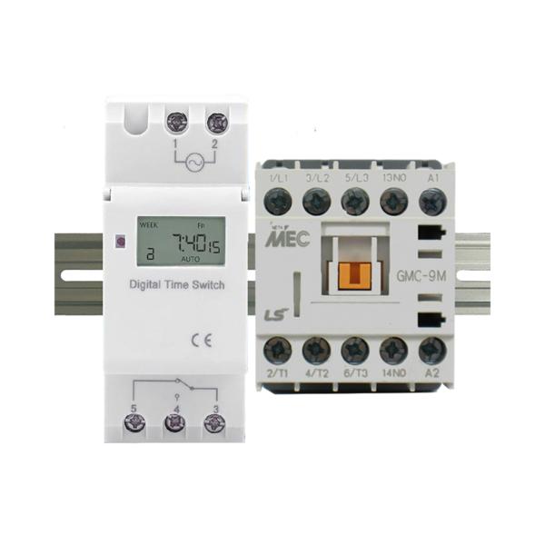 ElectroDepot 7 Day 24 Hour Programmable Timer 20A 3 Pole 12VDC