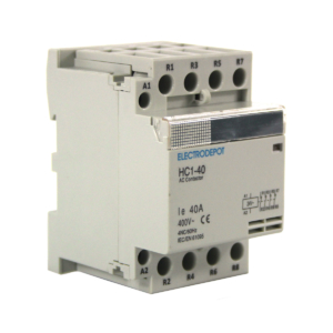 ELECTRODEPOT Contactor 40A 4 Pole 120VAC Coil, Normally Closed IEC 400V