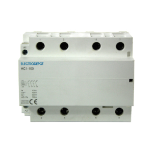 ElectroDepot Contactor-100 Amp. 4Pole NORMALLY Open Lighting Contactor 120VAC